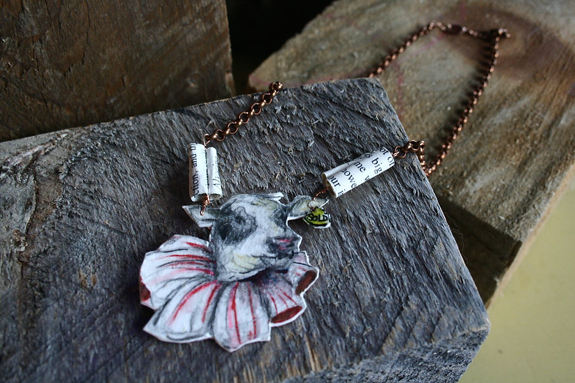 Funny Cow necklace