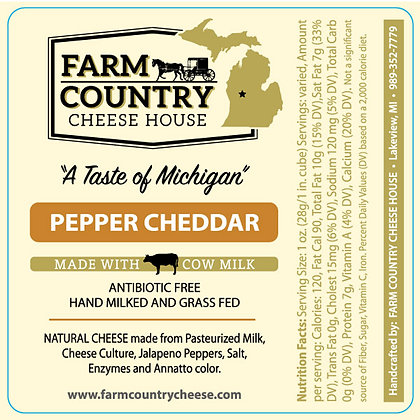 Pepper Cheddar Cheese