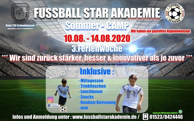 SOMMER - FUSSBALLCAMP beim TSV Schwabhausen