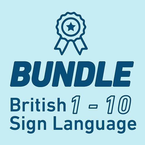 British Sign Language Chapters - (1-10) BUNDLE