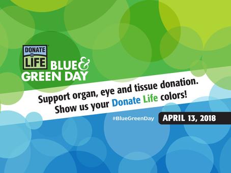 Wear Blue/Green, Get a Freebie
