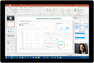 PowerSheet.ai in PowerPoint