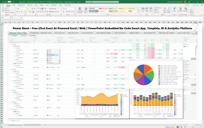 The free no-code smart spreadsheetapps, analytics andrealtime web 3.0 collaborationplatform