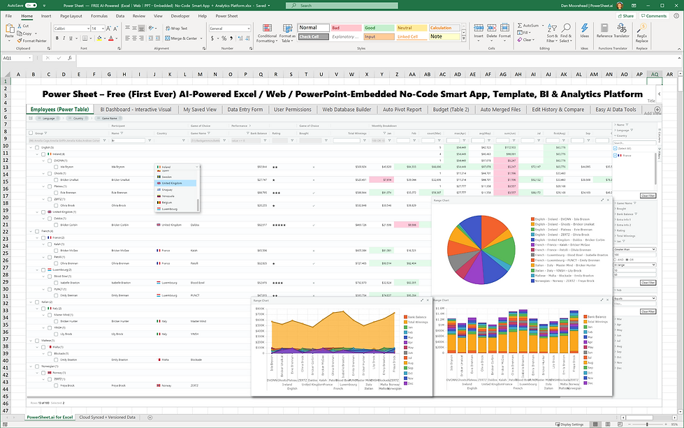 Power Sheet  —  FREE AI-Powered  (Excel|