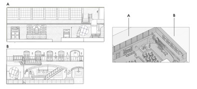 Elevations of the Dining Space