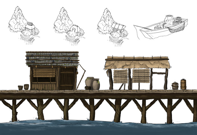 Buildings at the Fishing Village