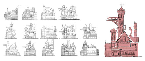 Shape Variations for the Main Buildings