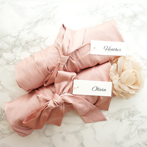 Bridesmaid Robes for getting ready, Bridal Kimono Robes, Lace Robe for Bride, Bridal Party Gifts, Bridal Shower Gifts, Silky