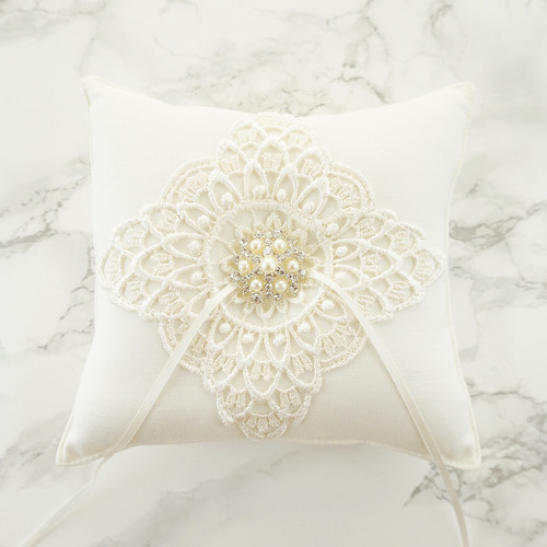 love peony Wedding Ring Pillows Ring Bearer Pillows Accessories