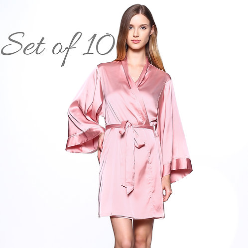 Set of 10 Solid Bridesmaid Robes