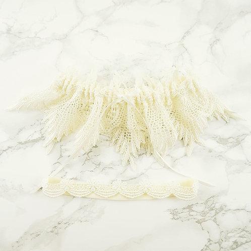 Ivory Venice Lace Wedding Garter Set