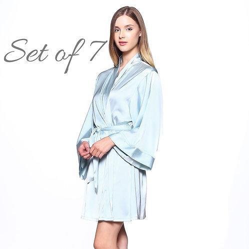Bridesmaid Robes for getting ready, Bridal Kimono Robes, Wedding Robe, Bride, Bridal Party Gifts, Bridal Shower Gifts, Silky