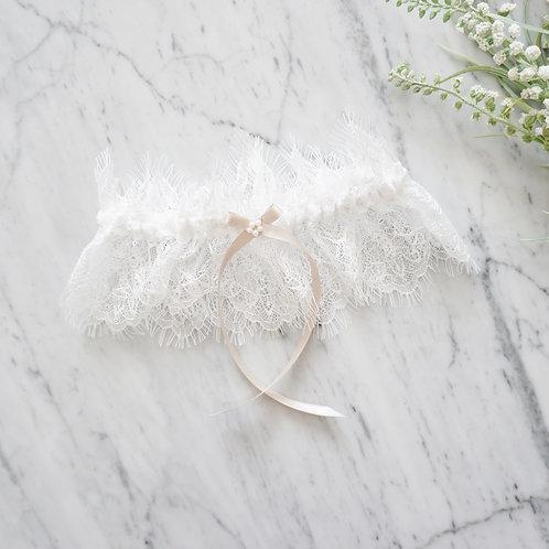 off white lace wedding garter