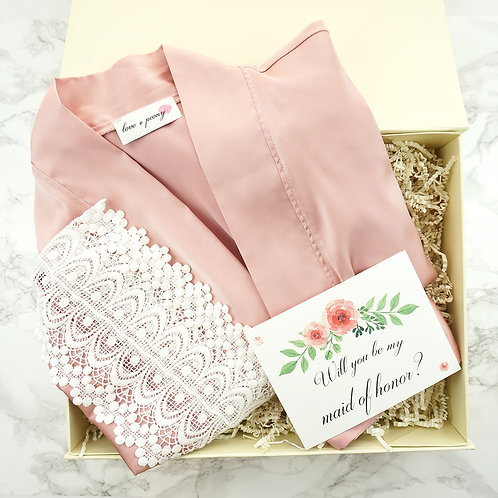 Bridesmaid gifts set for getting ready