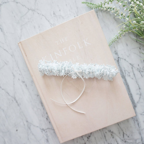 something blue lace wedding garter
