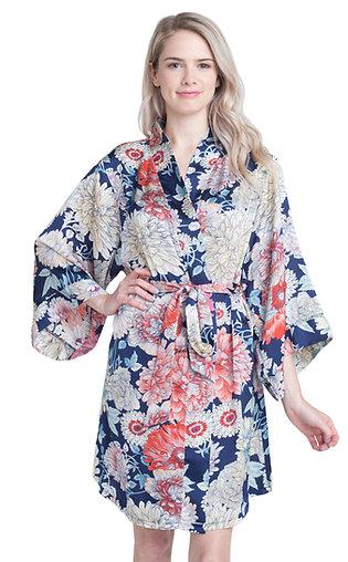 Dahlia Floral Kimono Robe