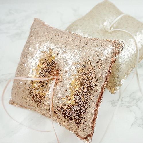 rose gold Wedding Ring Pillow