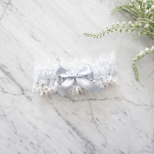 something blue lace bridal garter