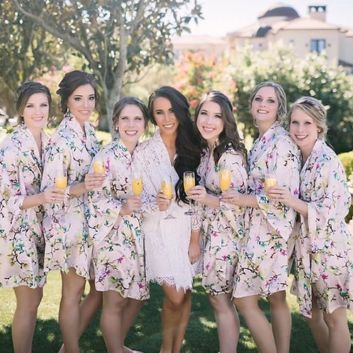 cheap bridesmaid robes set for wedding