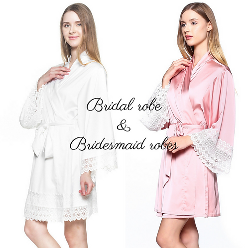 Bridesmaid Robes set for getting ready