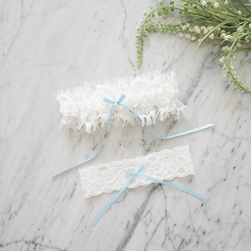 something blue bridal lace garters