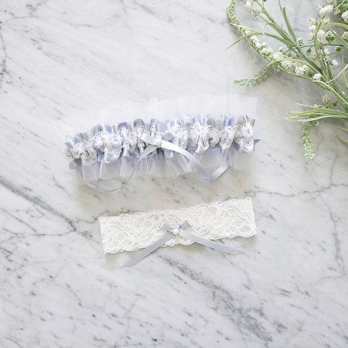 something blue wedding garter set