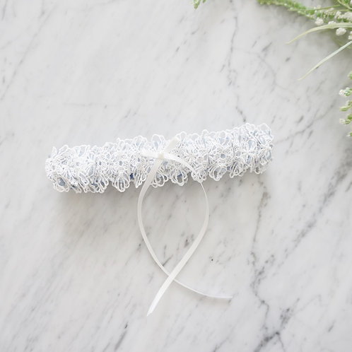 something blue bridal wedding garters
