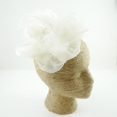 Bridal Hairpiece, Fascinator, Bridal Hair Clip, Wedding Hair Pin, Flower Wedding Headpiece, Bridal Fascinator with French net