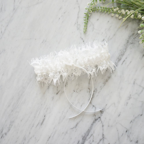 off white lace wedding garters