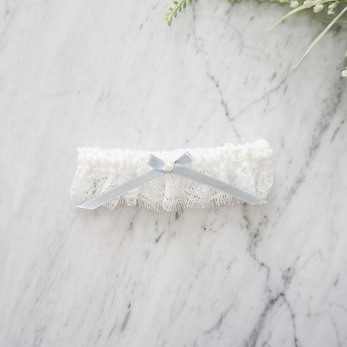 something blue lace bridal garters