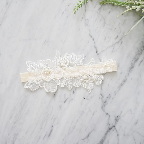 ivory lace wedding garters