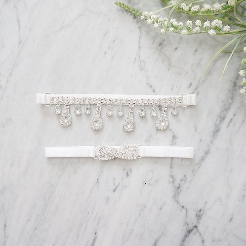 rhinestone wedding garter set
