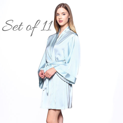 Bridesmaid Robes for getting ready, Bridal Kimono Robes, Wedding Robe, Bride, Bridal Party Gifts, Bridal Shower Gifts, Silky
