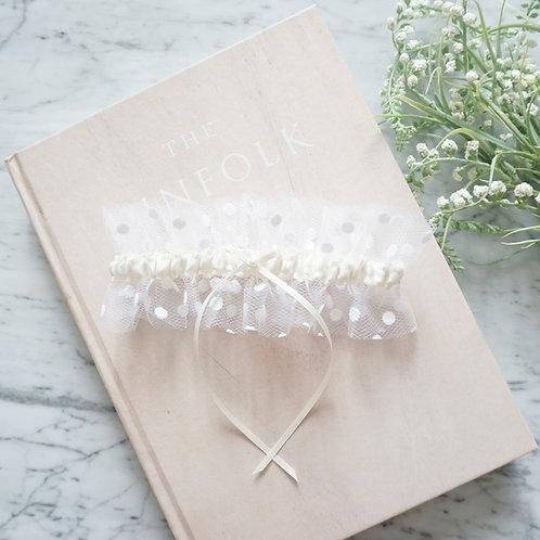 tulle bridal garters