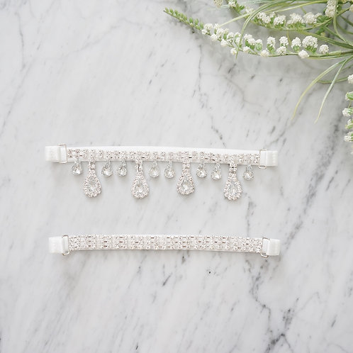 rhinestone wedding garters set