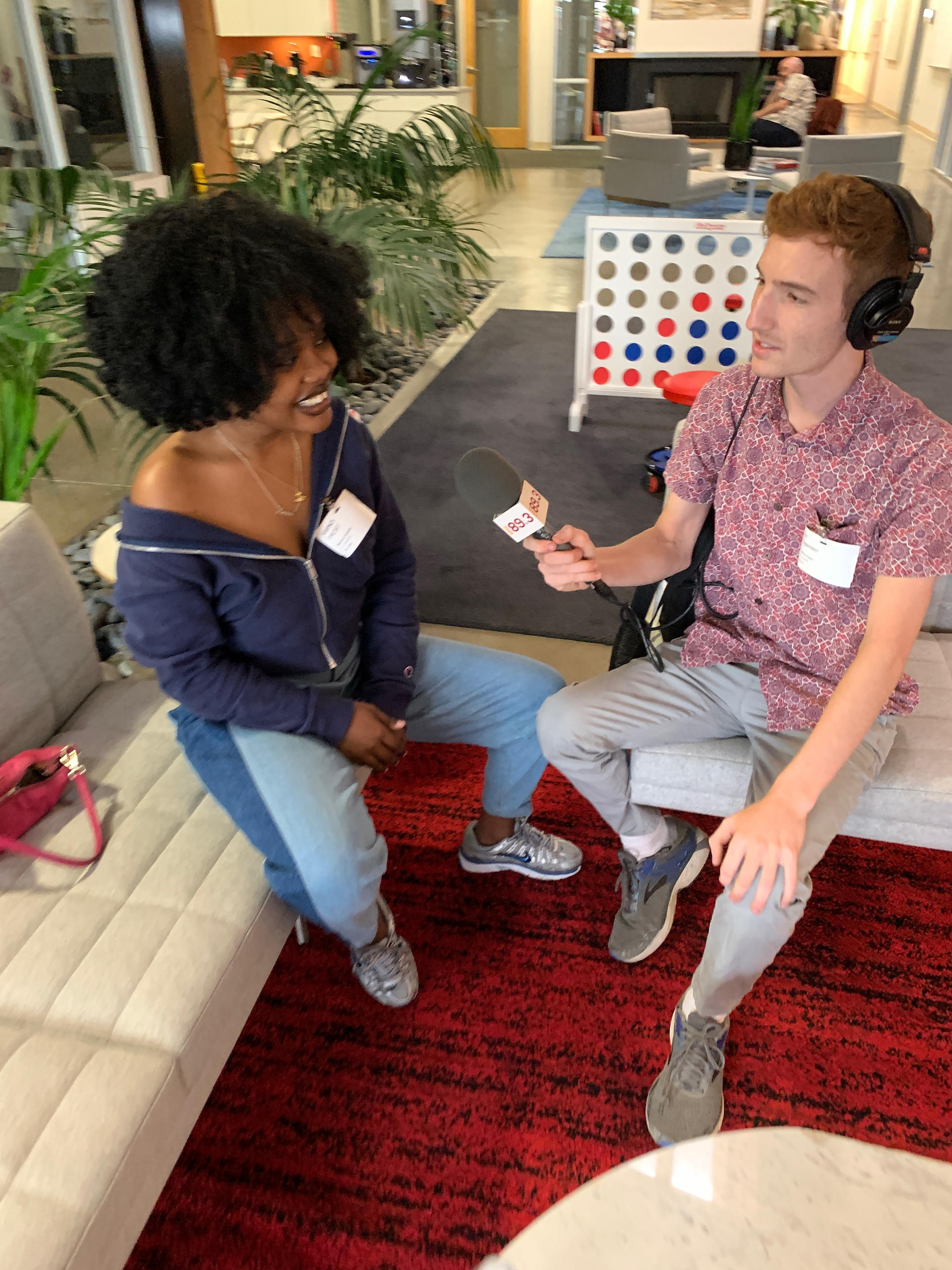 Interviewing musician Amindi K. Fro$t at NPR West in Culver City, CA