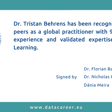 Accredited: Dr. Tristan Behrens