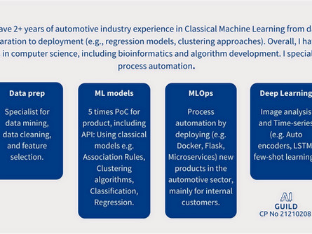 Machine Learning Engineer (m/f/d). Competency Profile No 3.