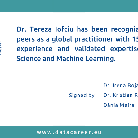 Accredited: Dr. Tereza Iofciu