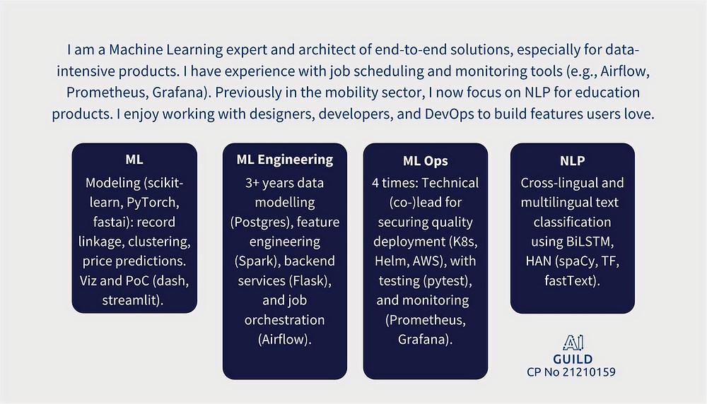 AI Guild competency profile No 21210159