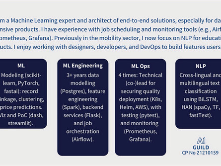 Machine Learning Engineer (m/f/d). A competency profile.