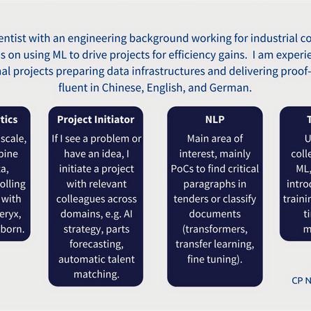 Data Scientist (m/f/d). Competency profile No 2.