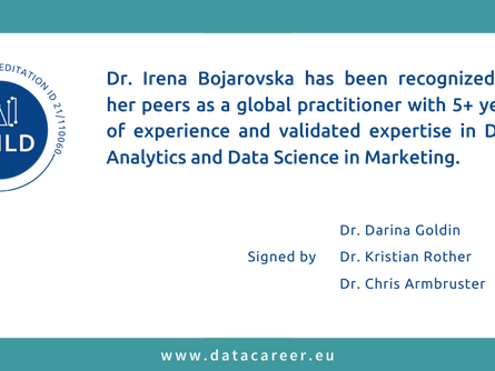 Accredited: Dr. Irena Bojarovska
