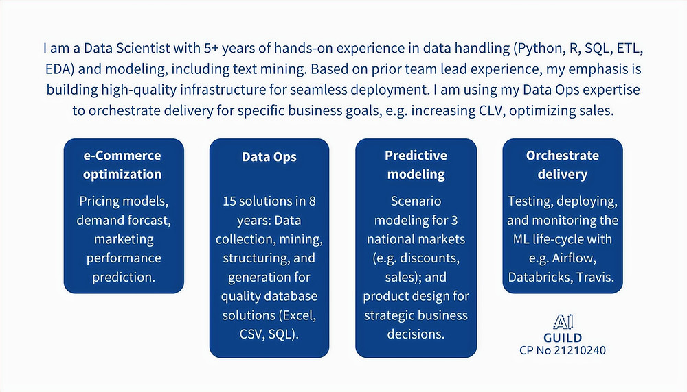 Competency profile for a Data Scientist
