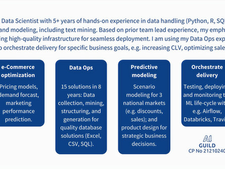 Data Scientist (m/f/d). Competency profile No 3.