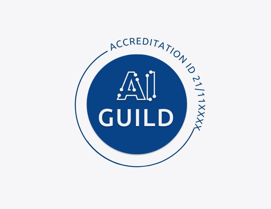 The AI Guild accreditation badge