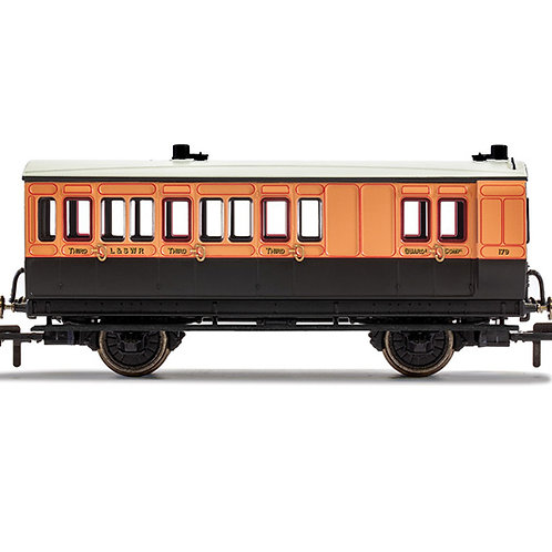 Hornby R40063 4 wheel brake 3rd 179 in LSWR brown and umber - Era 2