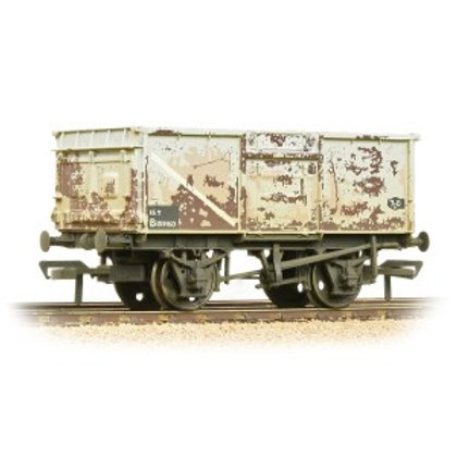 Bachmann 37-250J 16 ton steel mineral wagon in BR grey - heavily weathered