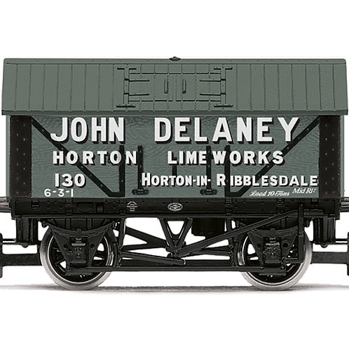 Hornby R6977 8 ton lime wagon John Delaney No. 130