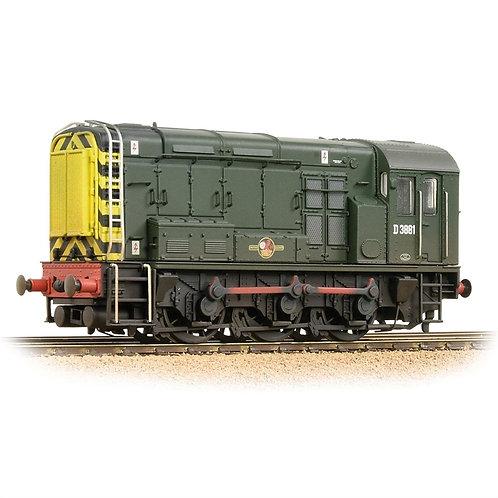 Bachmann Branchline 32-116B Class 08 D3881 BR Green (Wasp Stripes)